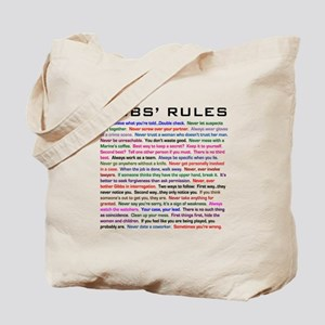 NCIS Gibbs' Rules Tote Bag