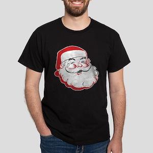 Happy Santa Face Dark T-Shirt