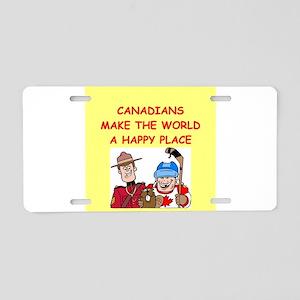 canadians Aluminum License Plate