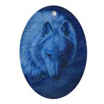 Lone Wolf Ornament (Oval)