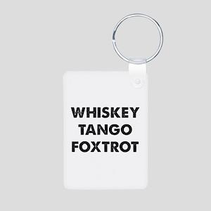 Wiskey Tango Foxtrot Aluminum Photo Keychain