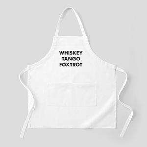 Wiskey Tango Foxtrot Apron