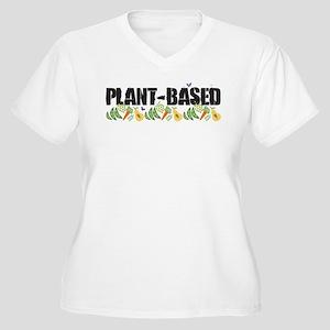 Plant-based Women's Plus Size V-Neck T-Shirt