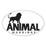 Animal Warriors Logo Sticker (Oval/Black)