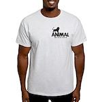 Men's Light T-Shirt (Black Pocket Logo)