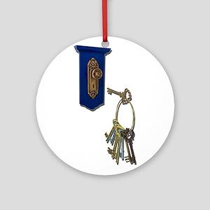 Unlocking The Door Ornament Round
