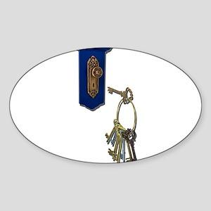 Unlocking the Door Sticker (Oval)