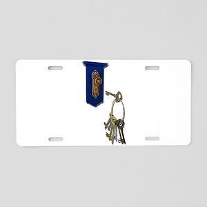 Unlocking the Door Aluminum License Plate