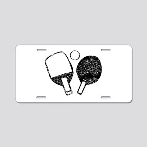 Ping Pong, Vintage Aluminum License Plate
