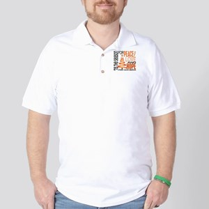 Christmas 1 Uterine Cancer Golf Shirt