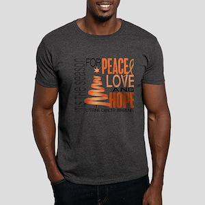 Christmas 1 Uterine Cancer Dark T-Shirt