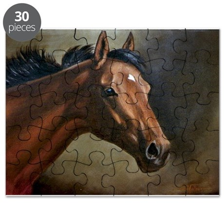 Thoroughbred Mare Head Puzzle