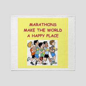 marathons Throw Blanket