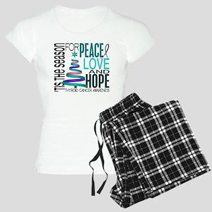 Christmas 1 Thyroid Cancer Women's Light Pajamas