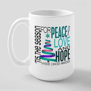 Christmas 1 Thyroid Cancer Large Mug