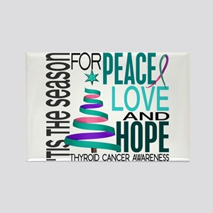 Christmas 1 Thyroid Cancer Rectangle Magnet