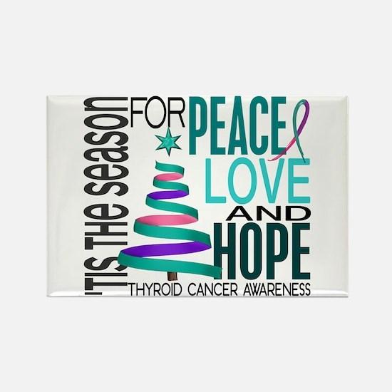 Christmas 1 Thyroid Cancer Rectangle Magnet