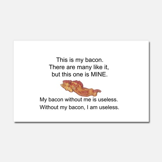 This bacon is MINE Car Magnet 20 x 12