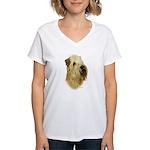 Wheaten Terrier Women's V-Neck T-Shirt