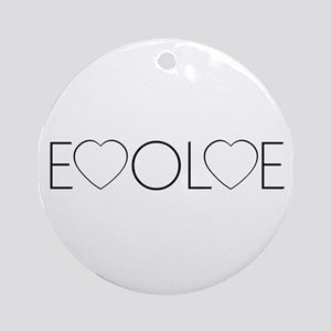 Evolve Love Ornament (Round)