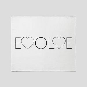 Evolve Love Throw Blanket