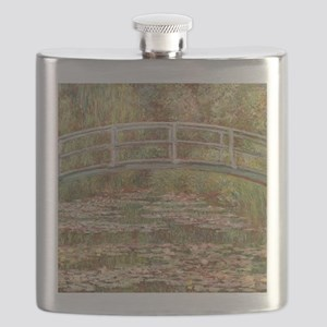 Monet's Japanese Bridge and Water Lily P Flask