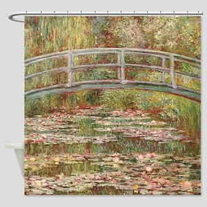 Monet's Japanese Bridge and Wat Shower Curtain