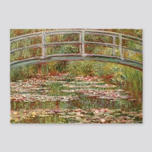 Monet's Japanese Bridge and Wat 5'x7'Area Rug