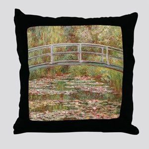 Monet's Japanese Bridge and Water Throw Pillow