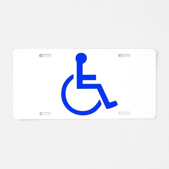Handicapped Aluminum License Plate