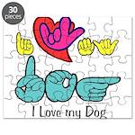 I-L-Y My Dog Puzzle