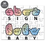 Captioned SIGN BABY SQ Puzzle