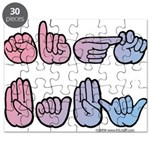 PinkBlue SIGN BABY SQ Puzzle