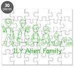 ILYAlienFamilyText Puzzle