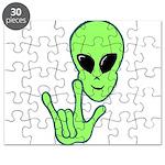 ILY Alien Puzzle