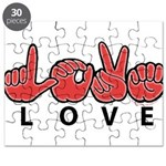 Captioned LOVE Puzzle