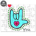 Aqua Bold I-Love-You Puzzle