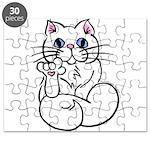 Longhair ASL Kitty Puzzle