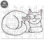 White ASL Kitty Puzzle