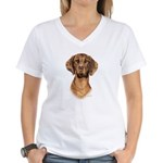 Hungarian Vizsla Women's V-Neck T-Shirt
