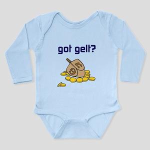 got gelt? Long Sleeve Infant Bodysuit