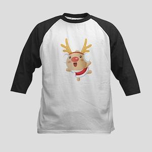 Cute Christmas deer Kids Baseball Jersey