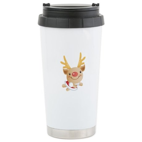 Cute Christmas deer Stainless Steel Travel Mug