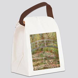Monet's Japanese Bridge and W Canvas Lunch Bag
