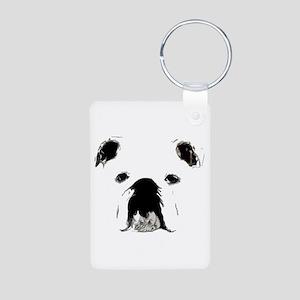 Bulldog Bacchanalia Aluminum Photo Keychain
