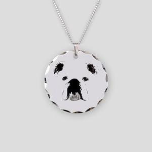 Bulldog Bacchanalia Necklace Circle Charm