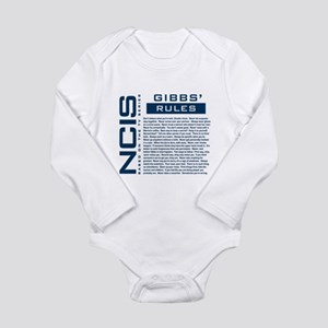 NCIS Gibbs' Rules Long Sleeve Infant Bodysuit