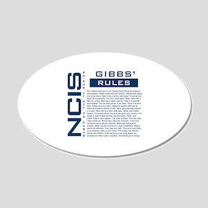 NCIS Gibbs' Rules 22x14 Oval Wall Peel