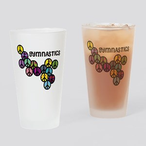 Gymnastics Peace Signs Drinking Glass