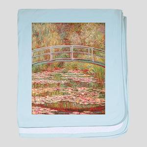 Monet's Japanese Bridge and Water baby blanket